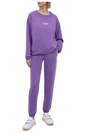 Женский хлопковый костюм SEVEN LAB фиолетового цвета, арт. SWP20-D violet | Фото 1