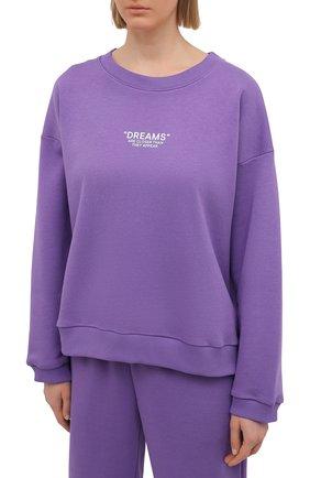 Женский хлопковый костюм SEVEN LAB фиолетового цвета, арт. SWP20-D violet | Фото 2