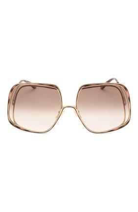 Женские солнцезащитные очки CHLOÉ коричневого цвета, арт. CH0035S | Фото 3