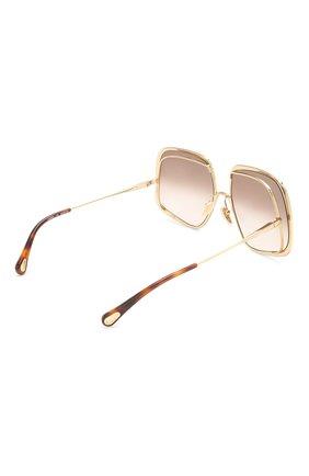 Женские солнцезащитные очки CHLOÉ коричневого цвета, арт. CH0035S | Фото 4