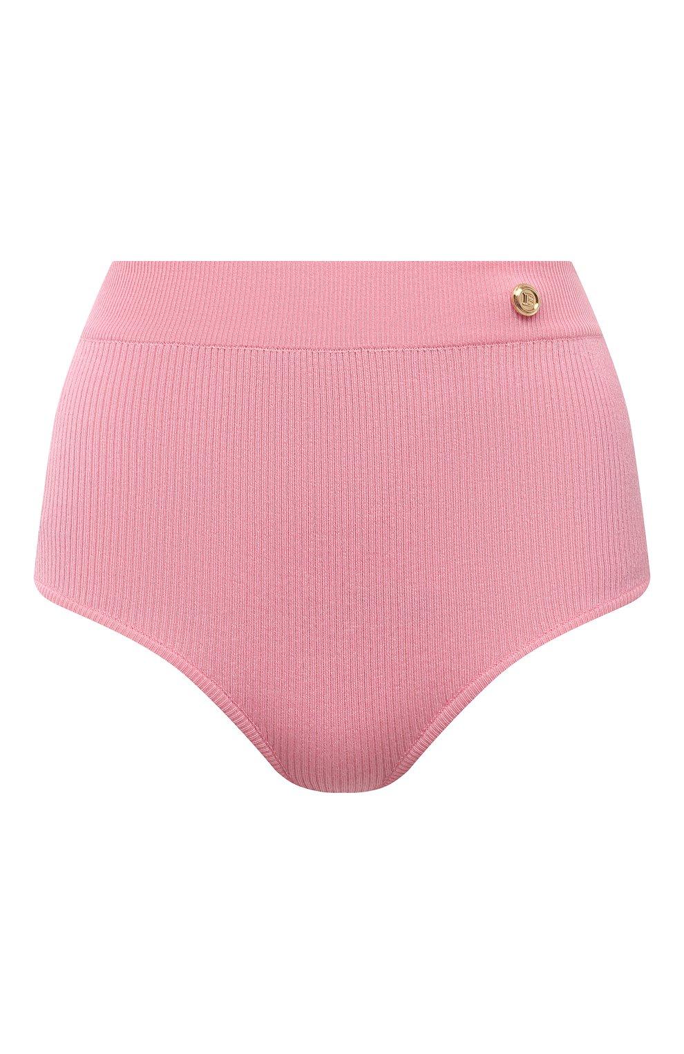Женские шерстяные шорты BALMAIN розового цвета, арт. VF2CB005/K255 | Фото 1