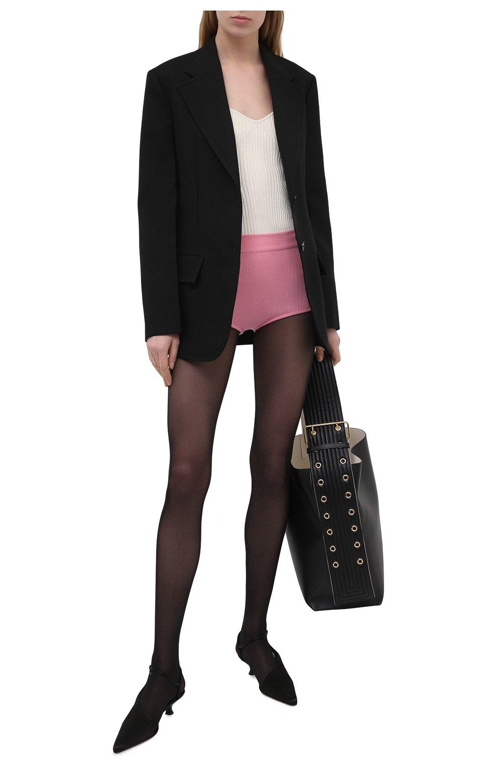 Женские шерстяные шорты BALMAIN розового цвета, арт. VF2CB005/K255 | Фото 2