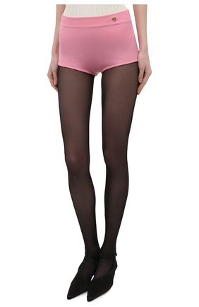 Женские шерстяные шорты BALMAIN розового цвета, арт. VF2CB005/K255 | Фото 3