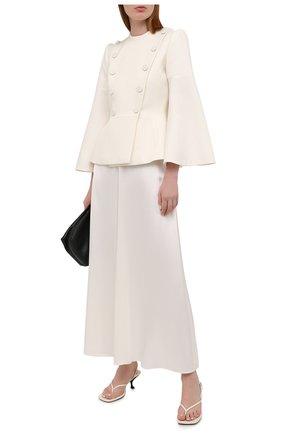 Женский шерстяной жакет FENDI белого цвета, арт. FJ7162 AC4G | Фото 2