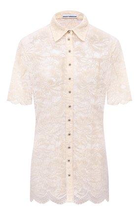 Женская блузка PACO RABANNE светло-бежевого цвета, арт. 21EJCE057PA0170 | Фото 1