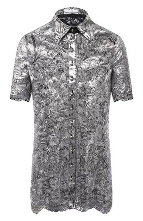 Женская блузка PACO RABANNE серебряного цвета, арт. 21EJCE057PA0173 | Фото 1