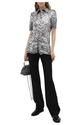 Женская блузка PACO RABANNE серебряного цвета, арт. 21EJCE057PA0173 | Фото 2