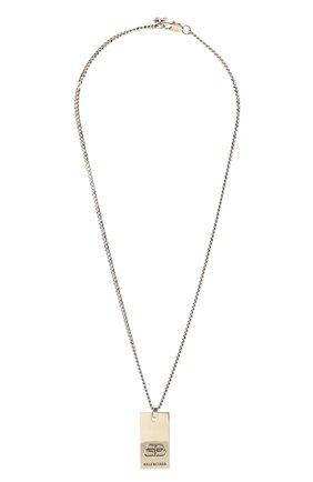 Женская кулон на цепочке bb BALENCIAGA серебряного цвета, арт. 593537/TZ99I | Фото 1 (Материал: Металл)