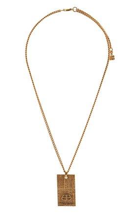 Женская кулон на цепочке bb BALENCIAGA золотого цвета, арт. 593538/TZ99J | Фото 1 (Материал: Металл)