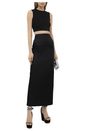 Женские замшевые босоножки ALEXANDRE VAUTHIER черного цвета, арт. INESWEDGECRY   Фото 2
