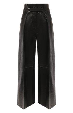 Женские кожаные брюки JIL SANDER черного цвета, арт. JSWS653076-WSL01011 | Фото 1