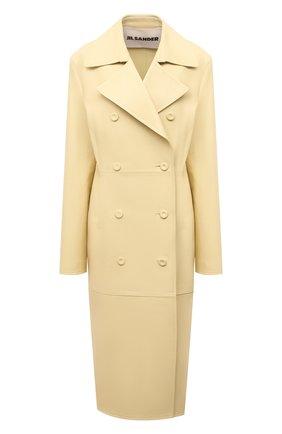 Женский кожаный плащ JIL SANDER желтого цвета, арт. JSWS651076-WSL01010 | Фото 1