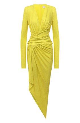 Женское платье из вискозы ALEXANDRE VAUTHIER желтого цвета, арт. 211DR1411B 1029B-202 | Фото 1