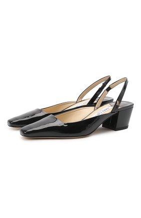 Женские кожаные туфли gini 45 JIMMY CHOO черного цвета, арт. GINI 45/GHE | Фото 1