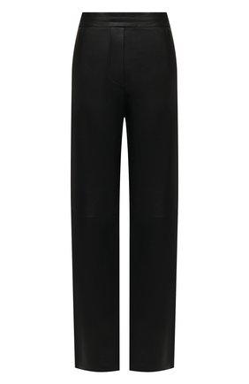 Женские кожаные брюки JOSEPH черного цвета, арт. JF005265   Фото 1