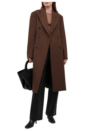 Женские кожаные брюки JOSEPH черного цвета, арт. JF005265 | Фото 2