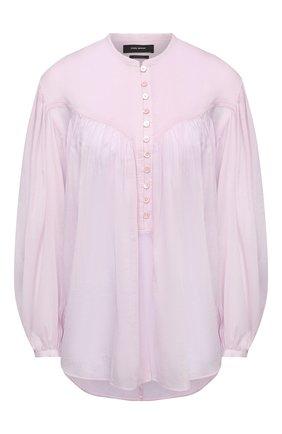 Женская хлопковая блузка ISABEL MARANT светло-розового цвета, арт. HT2066-21E025I/KILEDIA   Фото 1