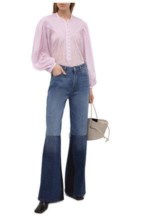 Женская хлопковая блузка ISABEL MARANT светло-розового цвета, арт. HT2066-21E025I/KILEDIA   Фото 2