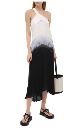 Женское шелковое платье ISABEL BENENATO черно-белого цвета, арт. DW51PS21 | Фото 2