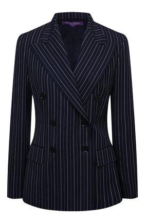 Женский шерстяной жакет RALPH LAUREN темно-синего цвета, арт. 290840106 | Фото 1