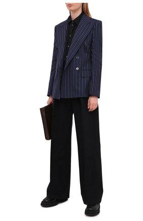 Женский шерстяной жакет RALPH LAUREN темно-синего цвета, арт. 290840106 | Фото 2
