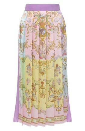 Женская плиссированная юбка VERSACE JEANS COUTURE разноцветного цвета, арт. A9HWA321-WDP805/S0228 | Фото 1