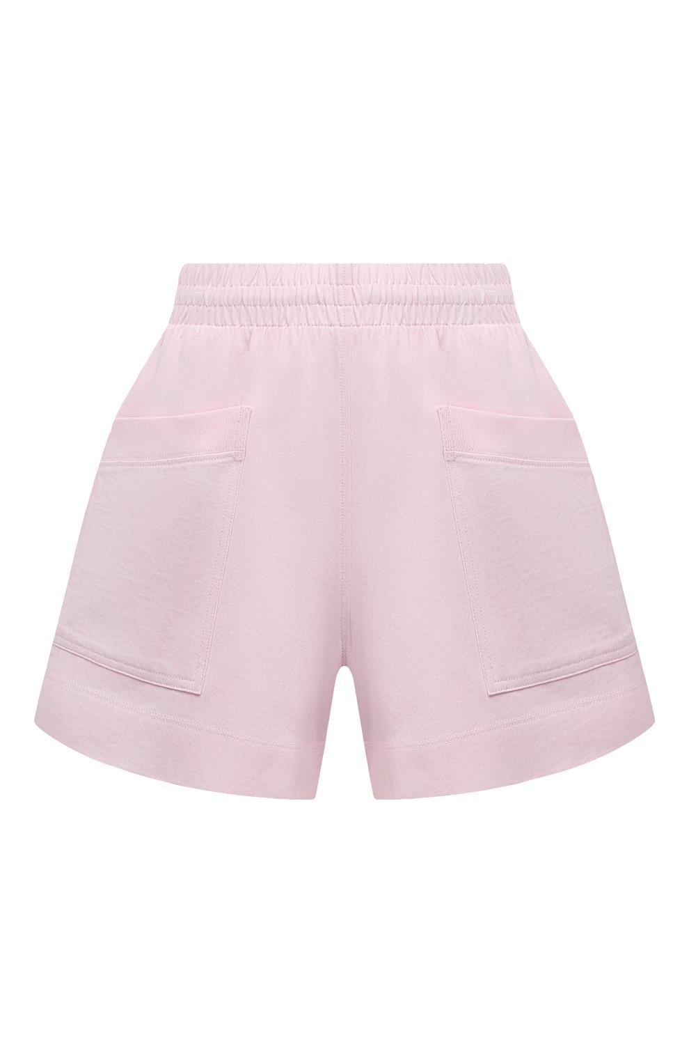 Женские хлопковые шорты DRIES VAN NOTEN светло-розового цвета, арт. 211-11120-2603 | Фото 1 (Женское Кросс-КТ: Шорты-одежда; Длина Ж (юбки, платья, шорты): Мини; Материал внешний: Хлопок; Стили: Спорт-шик; Материал подклада: Хлопок)