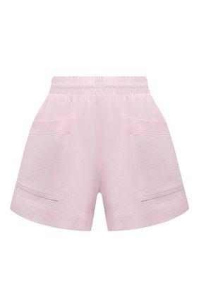Женские хлопковые шорты DRIES VAN NOTEN светло-розового цвета, арт. 211-11120-2603 | Фото 1 (Женское Кросс-КТ: Шорты-одежда; Стили: Спорт-шик; Материал внешний: Хлопок; Материал подклада: Хлопок; Длина Ж (юбки, платья, шорты): Мини)