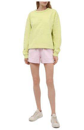 Женские хлопковые шорты DRIES VAN NOTEN светло-розового цвета, арт. 211-11120-2603 | Фото 2 (Женское Кросс-КТ: Шорты-одежда; Стили: Спорт-шик; Материал внешний: Хлопок; Материал подклада: Хлопок; Длина Ж (юбки, платья, шорты): Мини)
