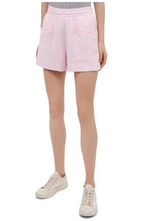 Женские хлопковые шорты DRIES VAN NOTEN светло-розового цвета, арт. 211-11120-2603 | Фото 3 (Женское Кросс-КТ: Шорты-одежда; Длина Ж (юбки, платья, шорты): Мини; Материал внешний: Хлопок; Стили: Спорт-шик; Материал подклада: Хлопок)