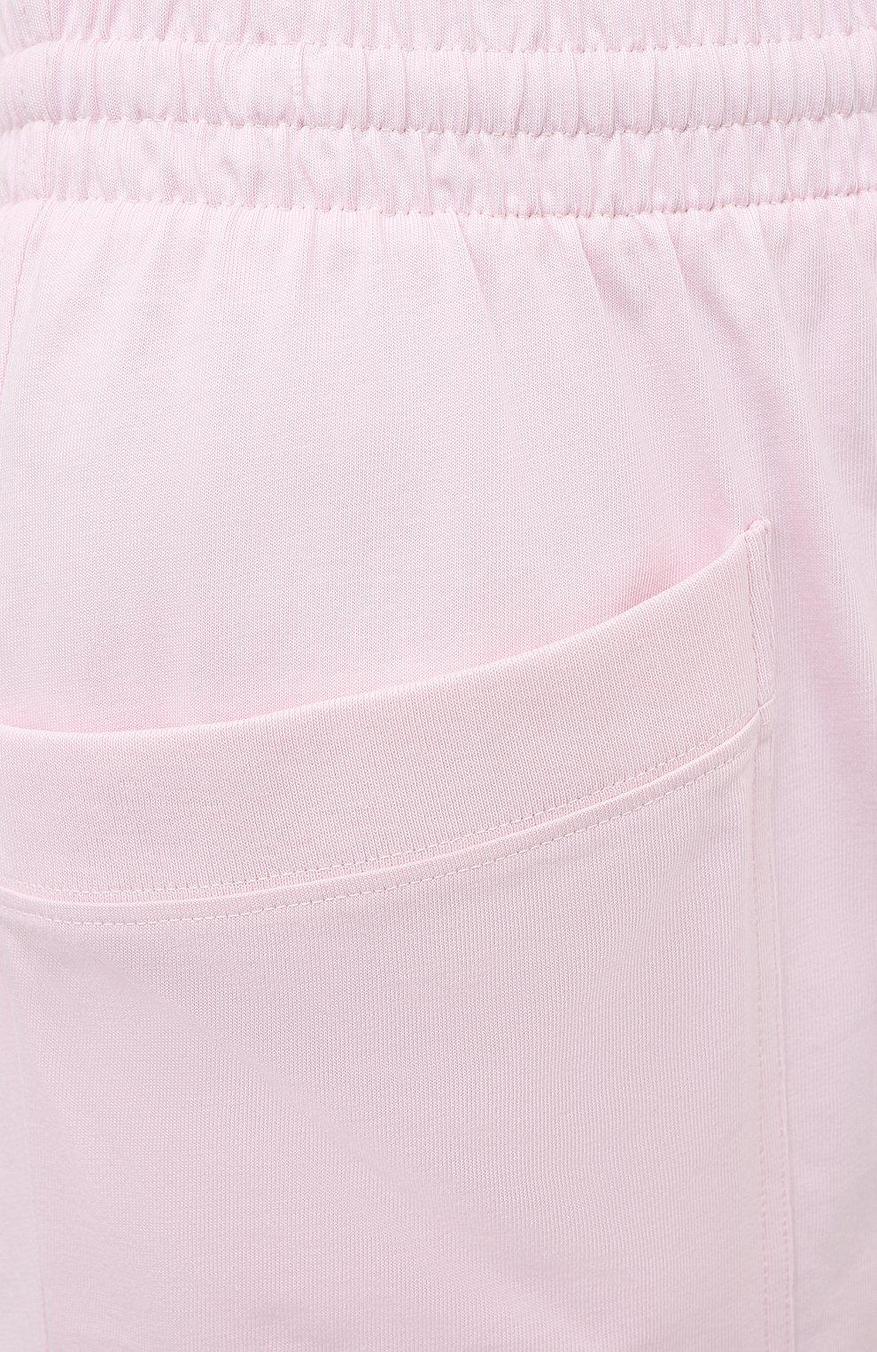Женские хлопковые шорты DRIES VAN NOTEN светло-розового цвета, арт. 211-11120-2603 | Фото 5 (Женское Кросс-КТ: Шорты-одежда; Длина Ж (юбки, платья, шорты): Мини; Материал внешний: Хлопок; Стили: Спорт-шик; Материал подклада: Хлопок)