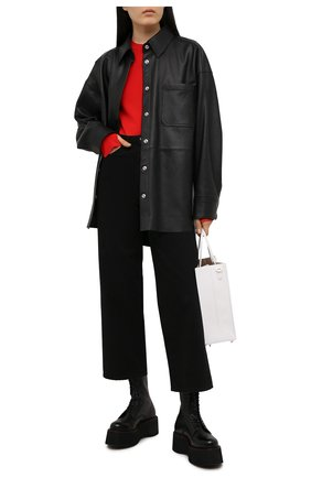 Женские кожаные ботинки R13 черного цвета, арт. R13S0003-018   Фото 2