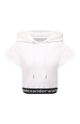 Женский худи ALEXANDERWANG.T белого цвета, арт. 4CC1201106 | Фото 1