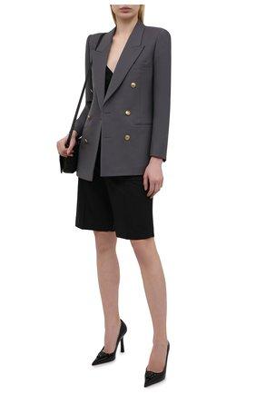Женские кожаные туфли la medusa VERSACE черного цвета, арт. DST6250/D1VE | Фото 2 (Материал внутренний: Натуральная кожа; Подошва: Плоская; Каблук тип: Шпилька; Каблук высота: Высокий)