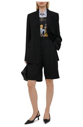 Женские кожаные туфли la medusa VERSACE черного цвета, арт. DST638H/D1VE | Фото 2 (Материал внутренний: Натуральная кожа; Подошва: Плоская; Каблук высота: Низкий; Каблук тип: Шпилька)