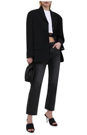 Женские текстильные мюли ALEXANDER WANG черного цвета, арт. 30221S020   Фото 2