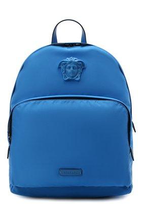 Женский рюкзак medusa VERSACE синего цвета, арт. DFZ8504/DNY8ME | Фото 1