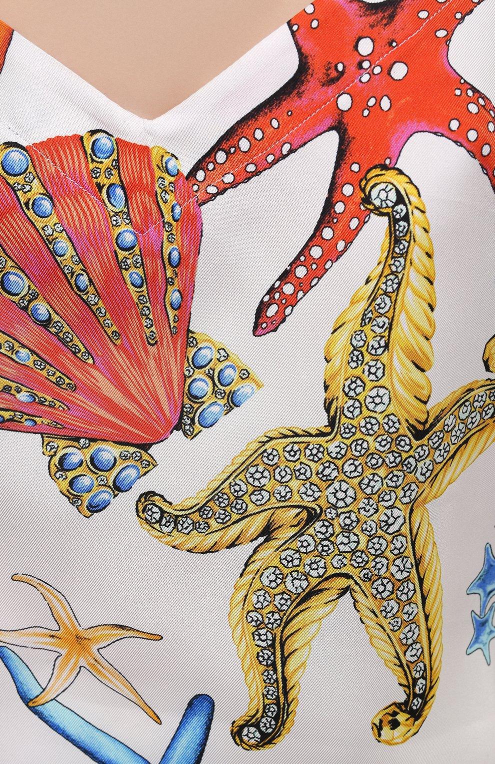Женский шелковый топ VERSACE разноцветного цвета, арт. AUD05060/1F01193   Фото 5