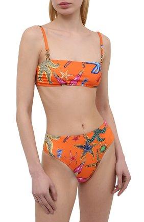 Женский бра-бандо VERSACE оранжевого цвета, арт. ABD07039/1F01224 | Фото 2