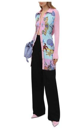 Женский кардиган из шелка и хлопка VERSACE светло-розового цвета, арт. A89166/A237543 | Фото 2