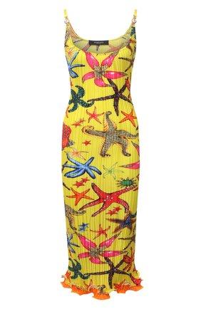 Женское платье VERSACE желтого цвета, арт. A88898/1F01283   Фото 1