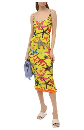 Женское платье VERSACE желтого цвета, арт. A88898/1F01283   Фото 2