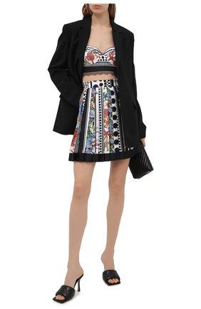 Женская шелковая юбка VERSACE разноцветного цвета, арт. A79448/1F00983 | Фото 2