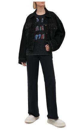 Женская хлопковая футболка R13 черного цвета, арт. R13W7800-49   Фото 2