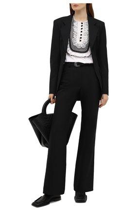 Женская хлопковая блузка SELF-PORTRAIT белого цвета, арт. SS21-022T | Фото 2