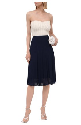 Женская юбка из вискозы RALPH LAUREN синего цвета, арт. 290847204 | Фото 2 (Женское Кросс-КТ: Юбка-одежда; Материал внешний: Вискоза; Материал подклада: Вискоза; Стили: Кэжуэл; Длина Ж (юбки, платья, шорты): Миди, До колена)
