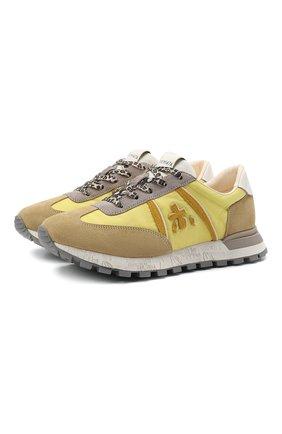 Женские комбинированные кроссовки john-low-d PREMIATA желтого цвета, арт. J0HNL0WD/VAR5179   Фото 1