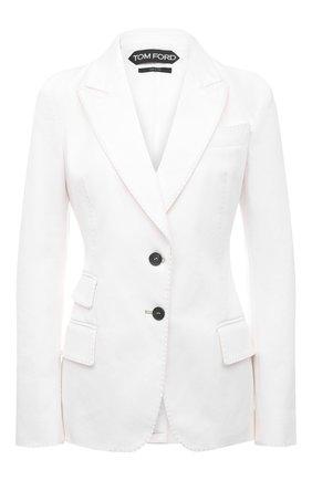 Женский хлопковый жакет TOM FORD белого цвета, арт. GID050-DEX127 | Фото 1