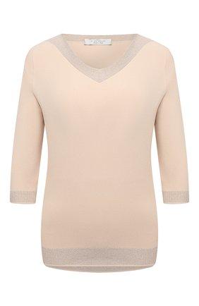 Женский пуловер из вискозы D.EXTERIOR бежевого цвета, арт. 52014   Фото 1