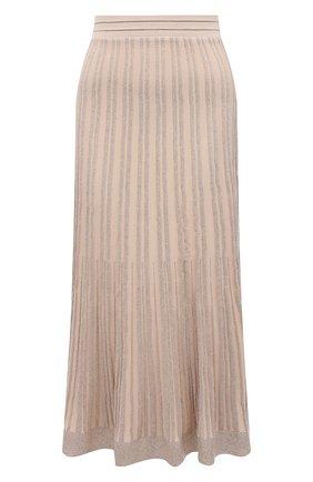 Женская юбка из вискозы D.EXTERIOR бежевого цвета, арт. 52041 | Фото 1